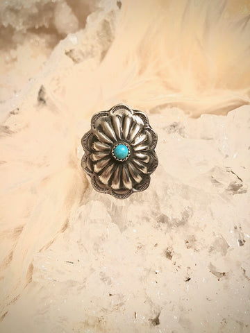 Concho Turquoise Ring