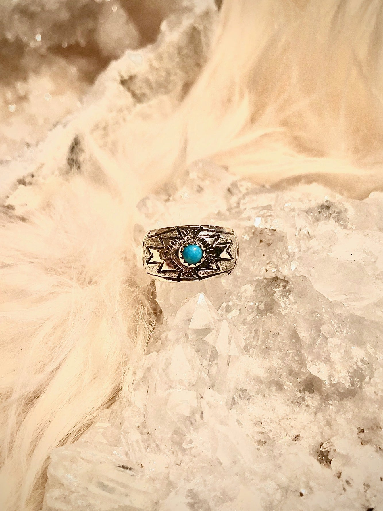 Stamped Navajo Ring