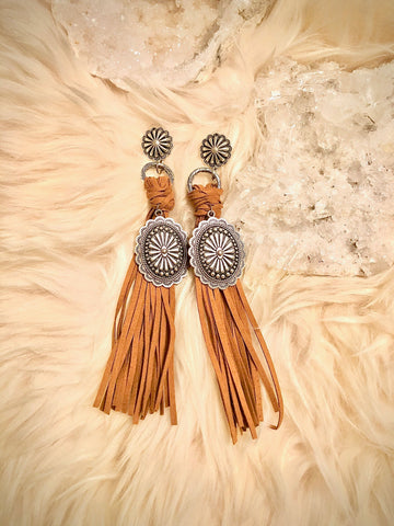 Concho Fringe Earrings