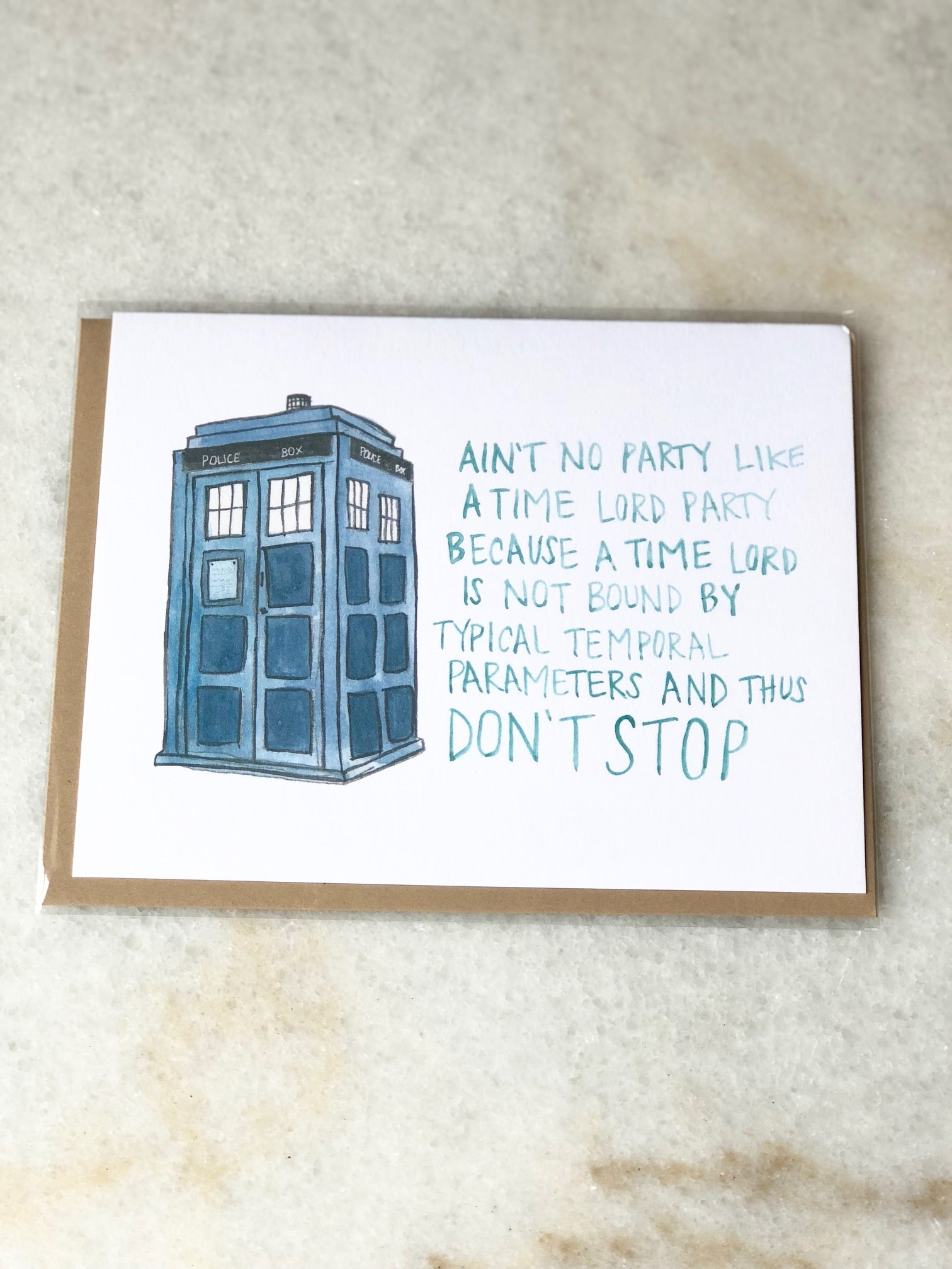 Doctor Who Tardis Birthday