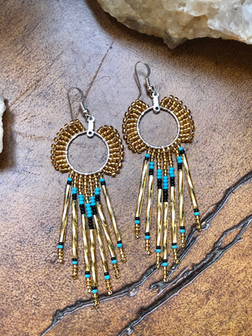 Sunburst Beaded Earrings