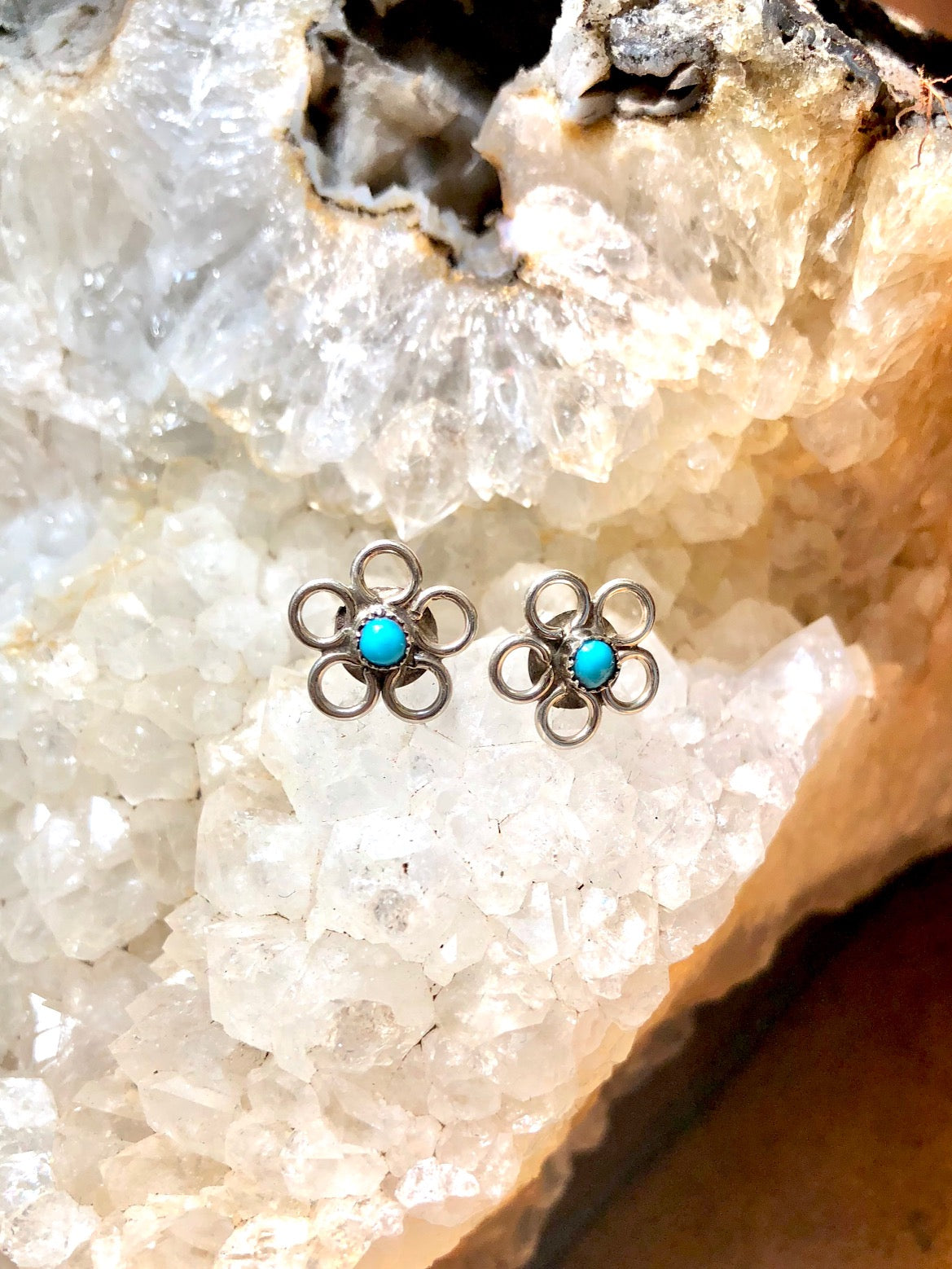 Daisy Turquoise Earrings