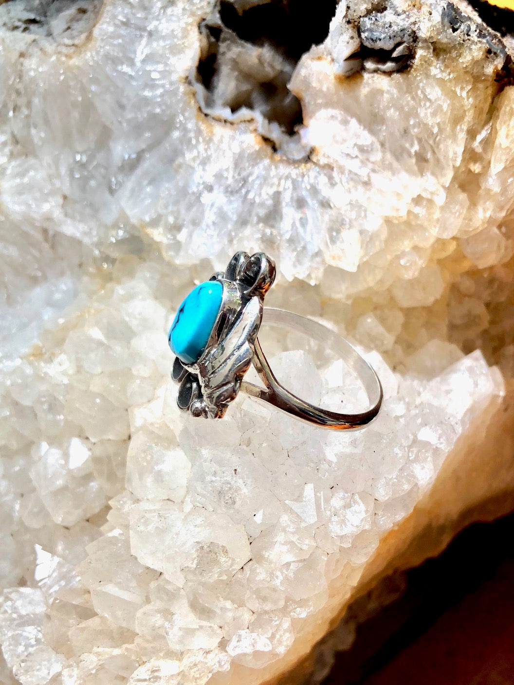 Sleeping Beauty Turquoise Fan Ring