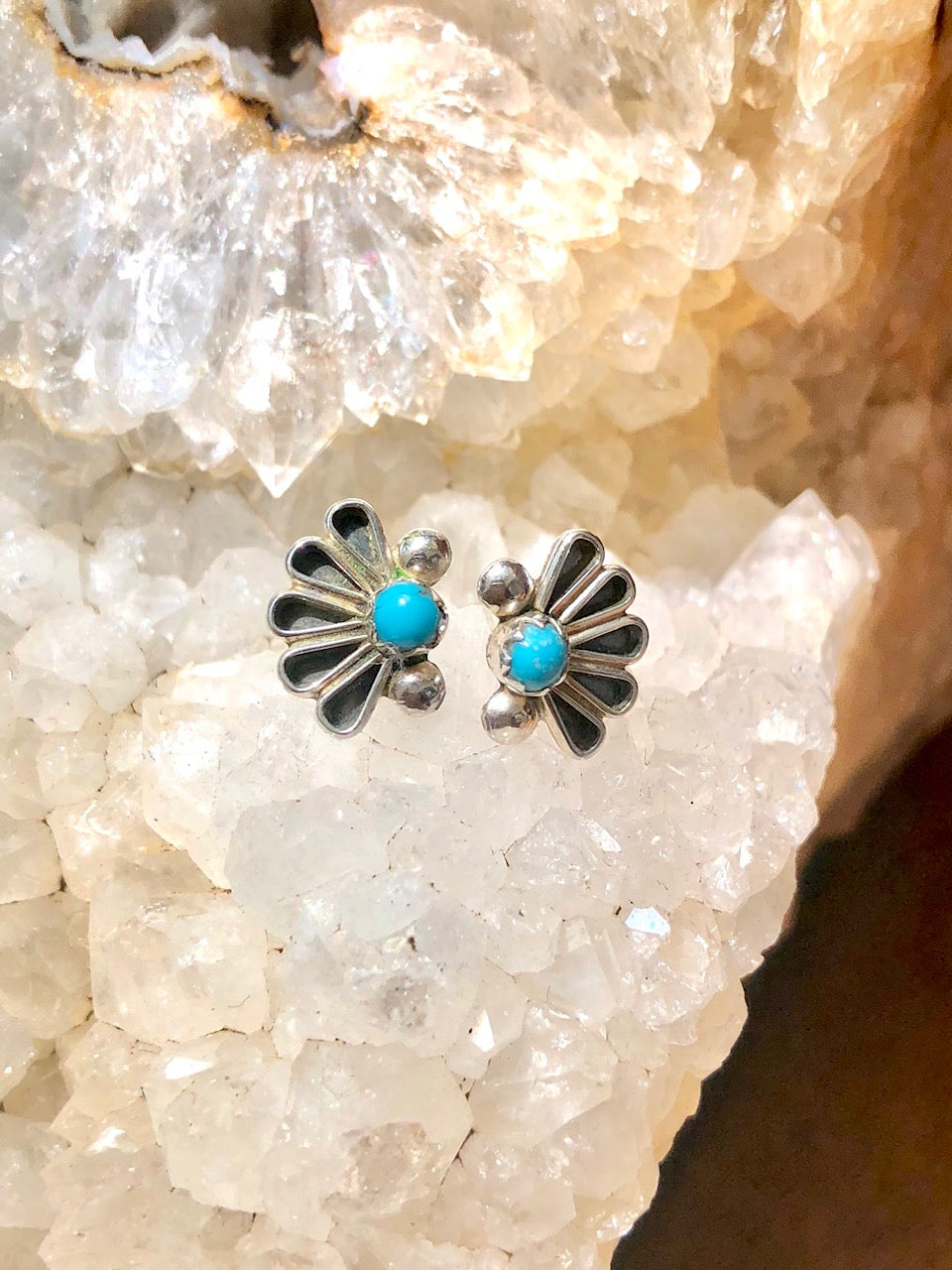 Zuni Fan Earrings