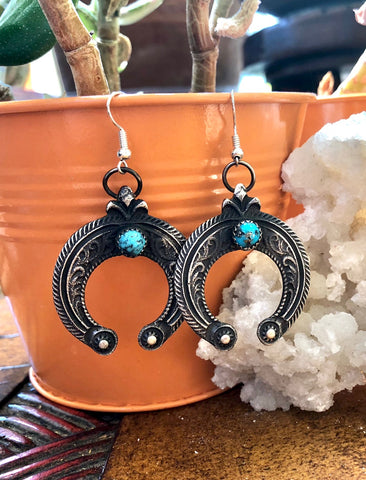 Tufa Cast Naja Earrings