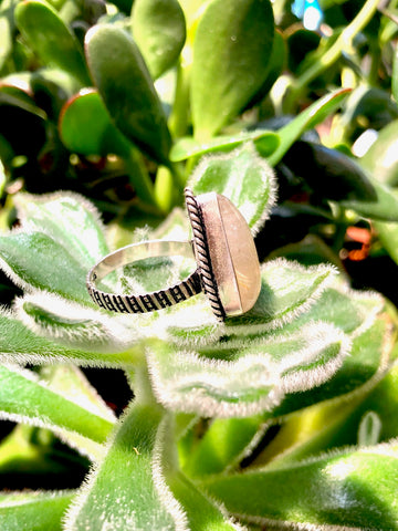 Pyramid Rutilated Quartz Ring
