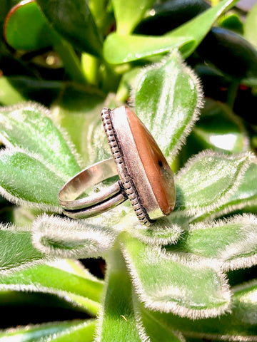Peach Agate Ring