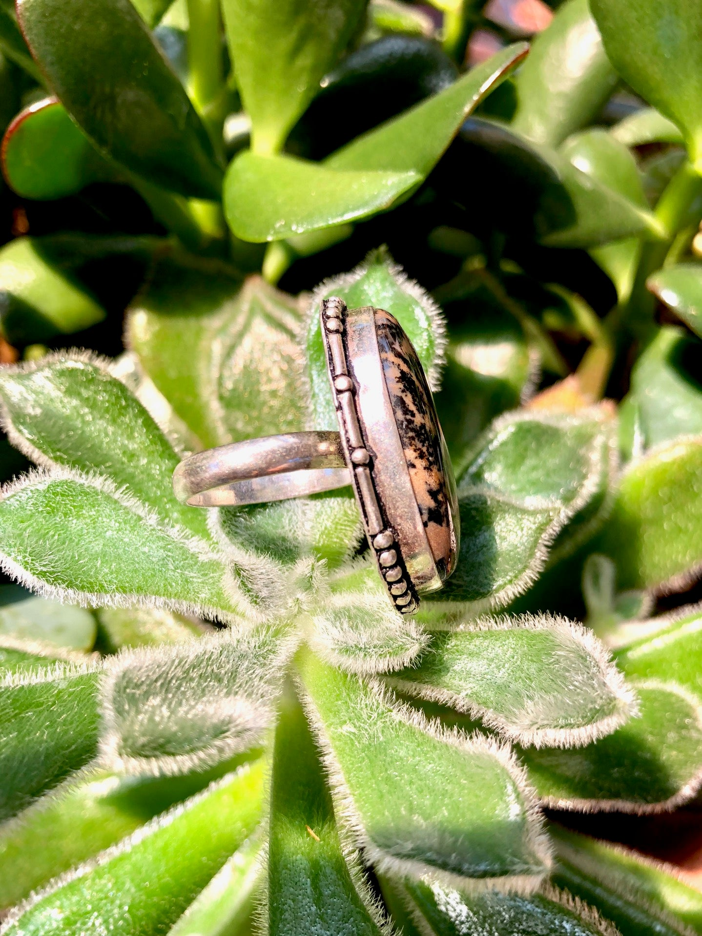 Dendritic Jasper Ring
