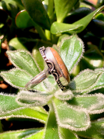 Bird's Eye Rhyolite Oval Ring