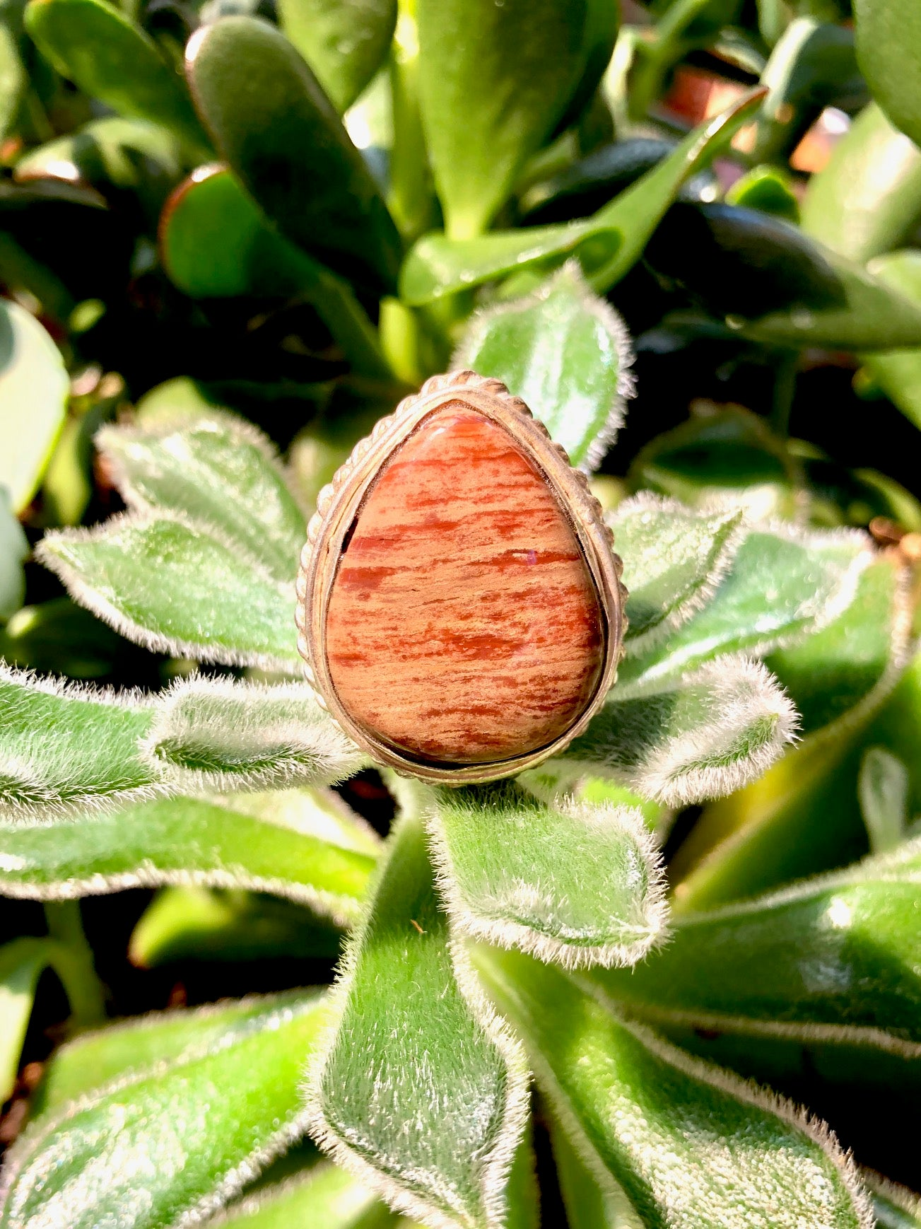 Brown Aragonite Ring
