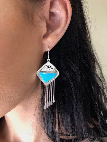 Alpenglow Turquoise Fringe Earrings