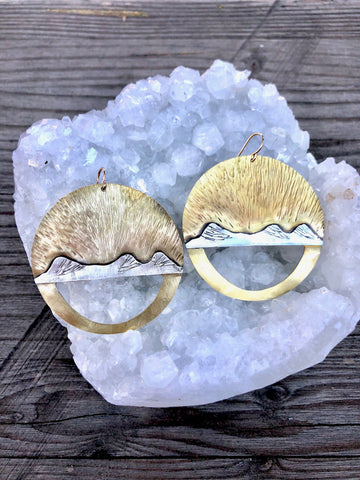 Alpenglow Three Sisters Earrings