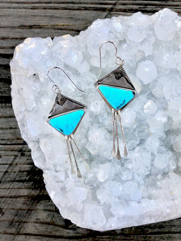 Alpenglow Fringe Mountain Sunset Earrings