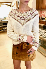 Moon River V-Neck Knit Sweater