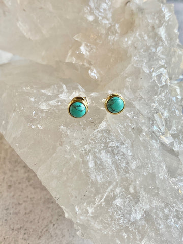 Turquoise with Brass Studs
