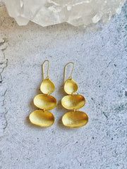 Brass Pod Earrings