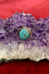 Kingman Turquoise Stamped Ring