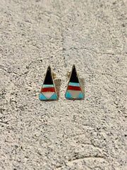 Zuni Pointed Triangle Earrings