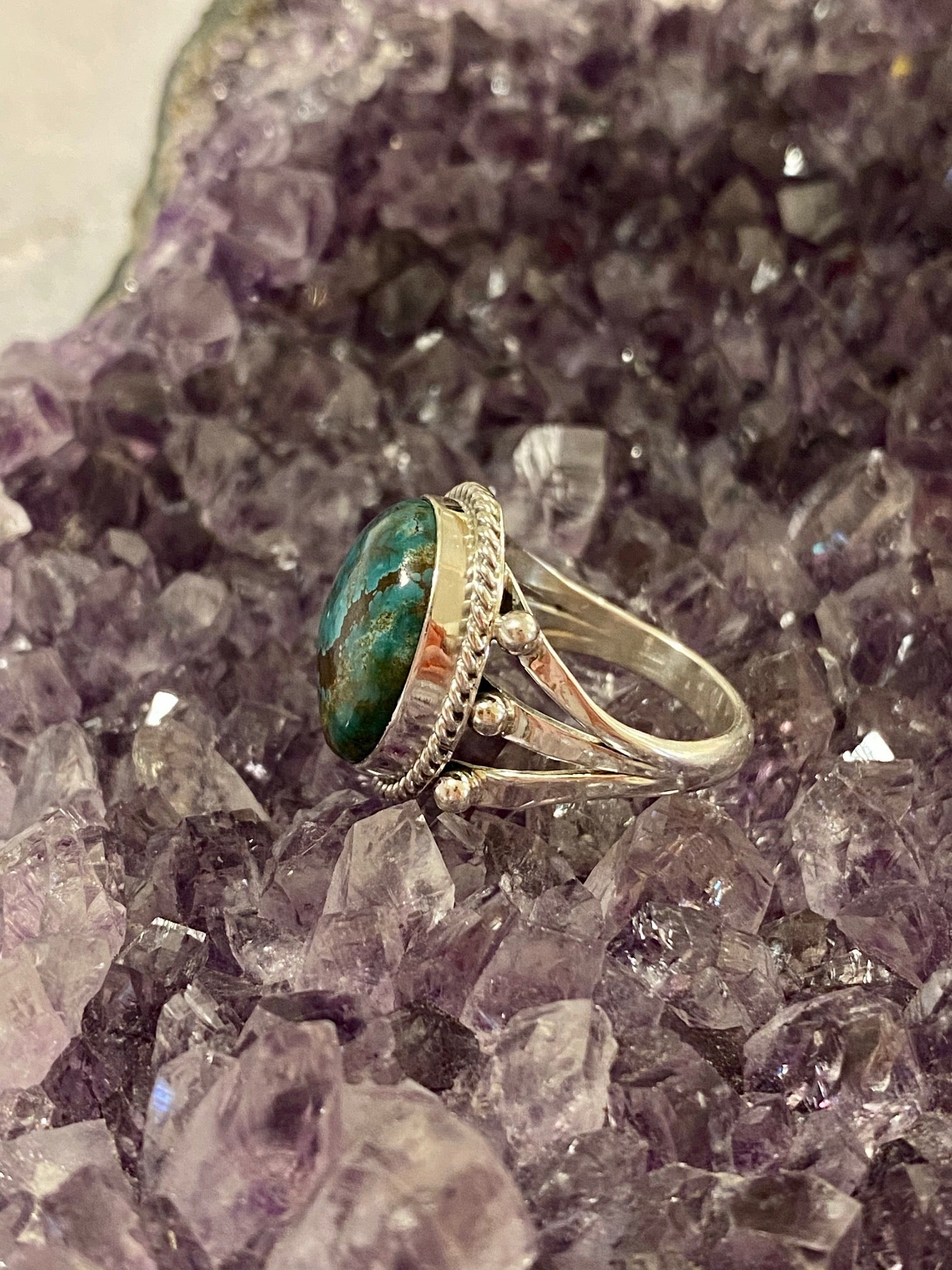 Teal Kingman Ring