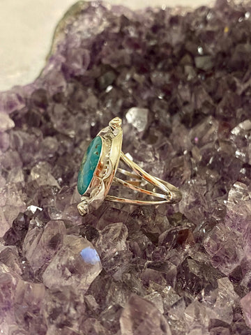 Turquoise Border Ring