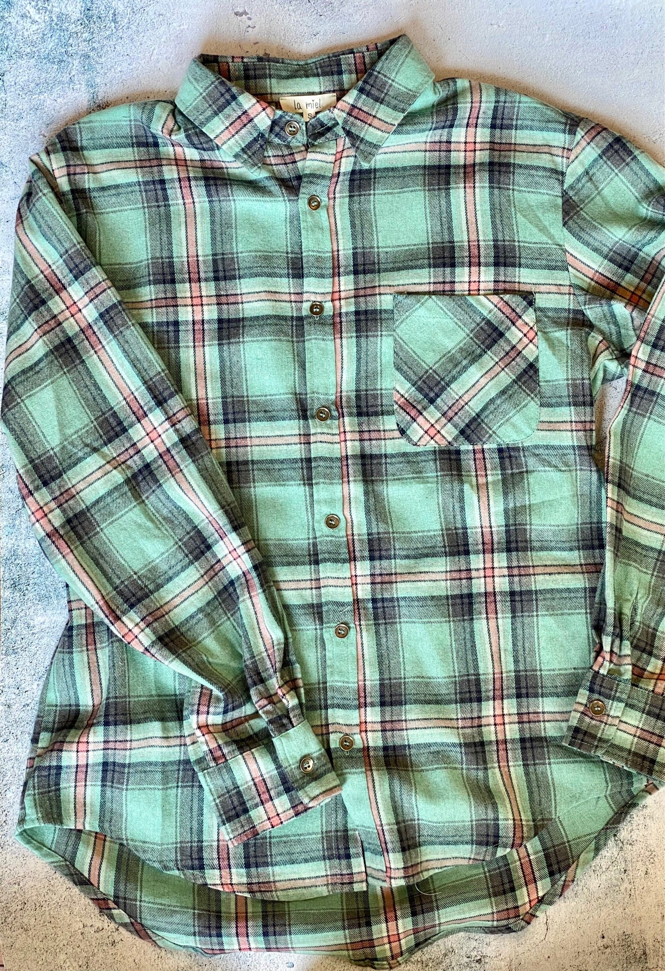 Mint Plaid Shirt