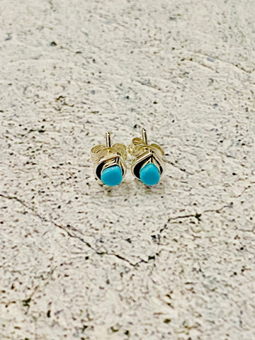 Turquoise Tear Drop Studs