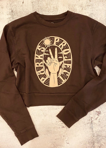 Parks Project Peace in the Parks Cropped Crew Sweatshirt