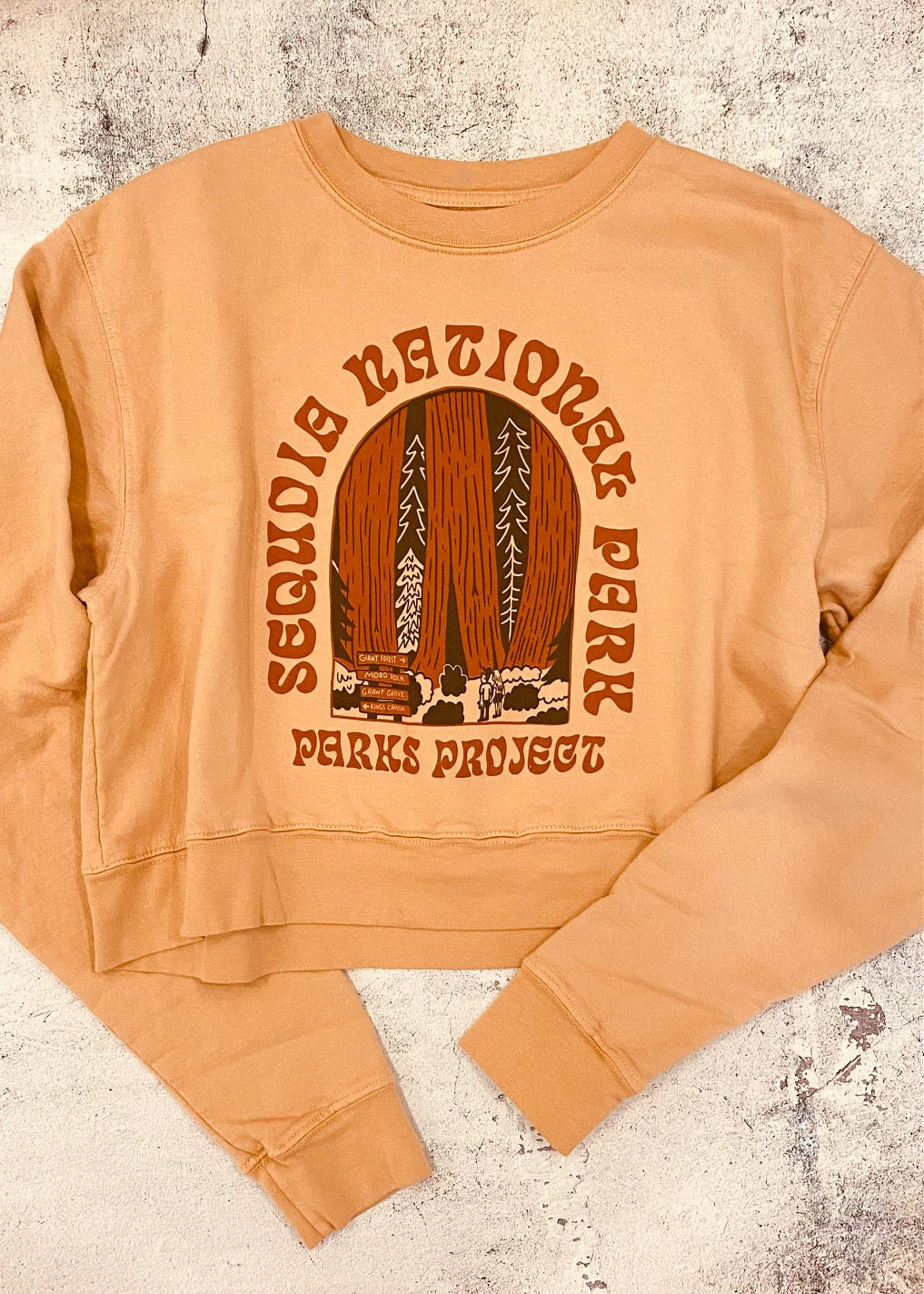 Parks Project Sequoia Admiration Cropped Crew Sweatshirt