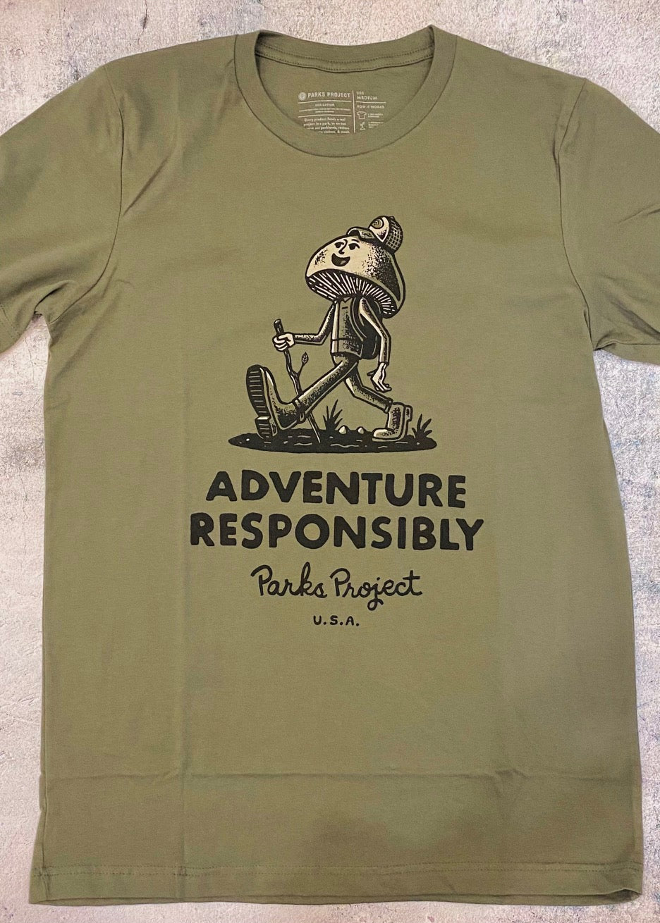 Parks Project Adventure Responsibly Hiker Tee