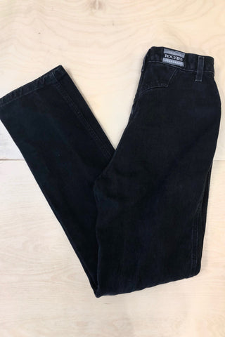 "Vintage Rockies Black Denim 25"" Waist"