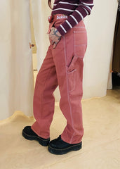 Dickies Girl Relaxed Fit Belted Carpenter Pants, Terracotta