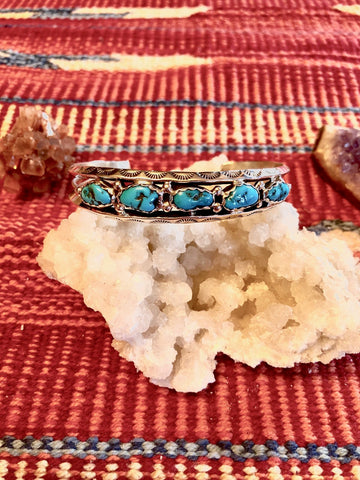 Men's Sleeping Beauty Turquoise Bracelet