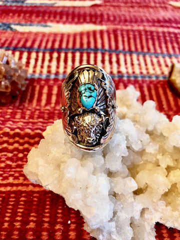 Buffalo and Turquoise Ring