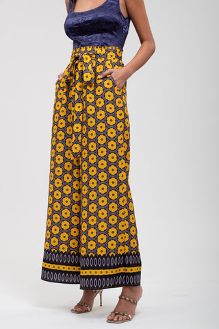 J.O.A. Printed Wide Leg Pants