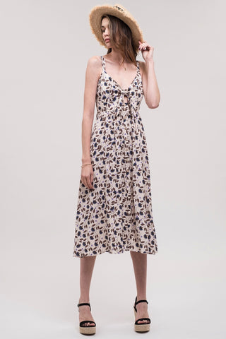 J.O.A. Cornflower Blossom Linen Dress
