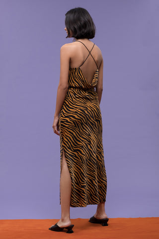 J.O.A. Tiger Print Slip Dress