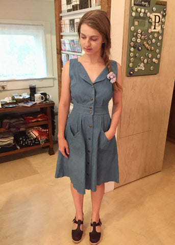 Field Day Washed Denim Sheet Dress