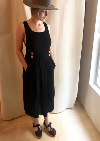 Field Day Brigid Pinafore Dress Black