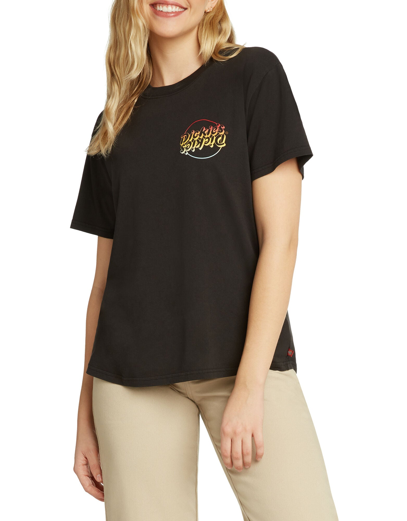 Dickies Girl Short Sleeve Gradient Logo Boyfriend T-Shirt