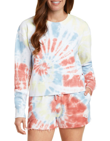 Dickies Crop Tie Dye Sweatshirt