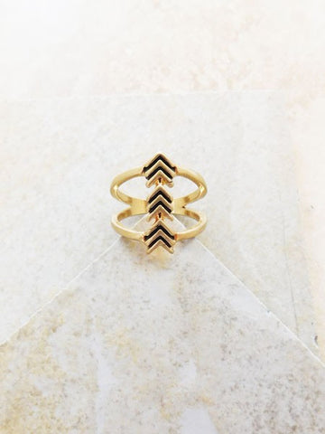 Double Band Arrow Ring
