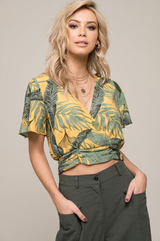 Moon River Palm Blouse