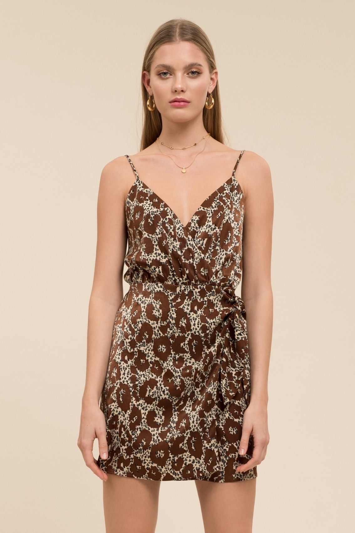 Moon River Leopard Print Dress