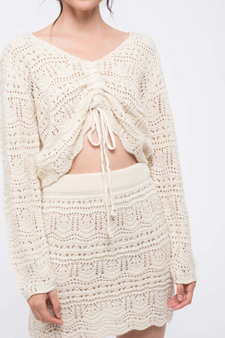 Moon River Macrame Sweater