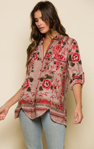 Raga Blooming Love Button Down