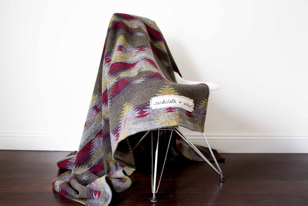 Sackcloth Wool Blanket