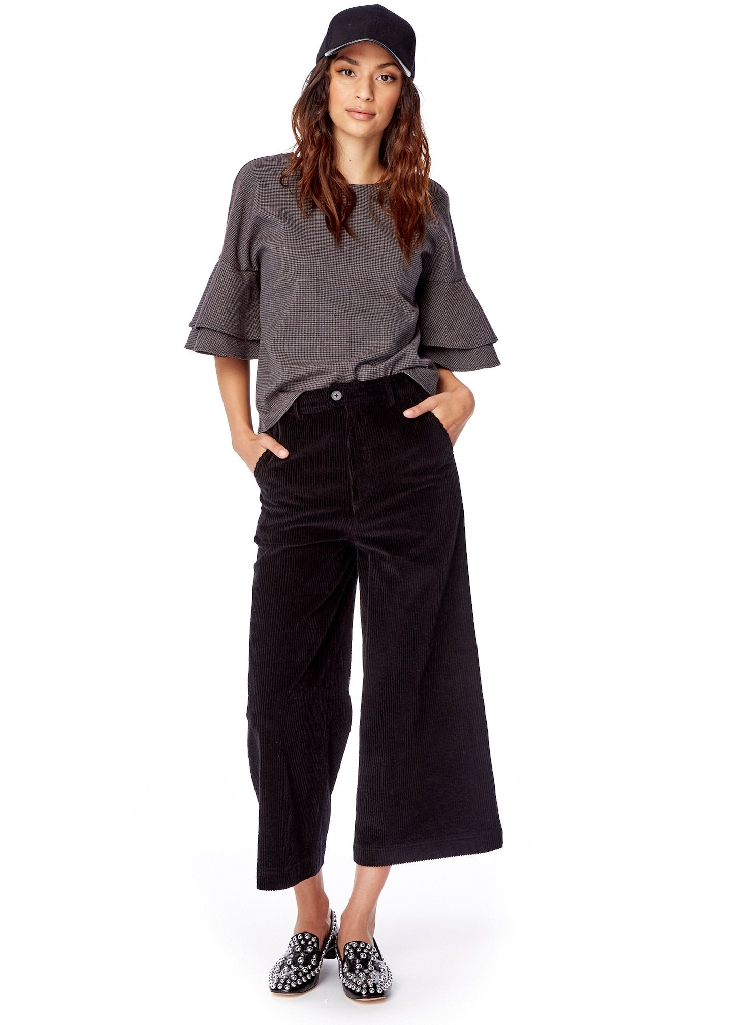 Lost + Wander Night Rider Corduroy Flare Pants