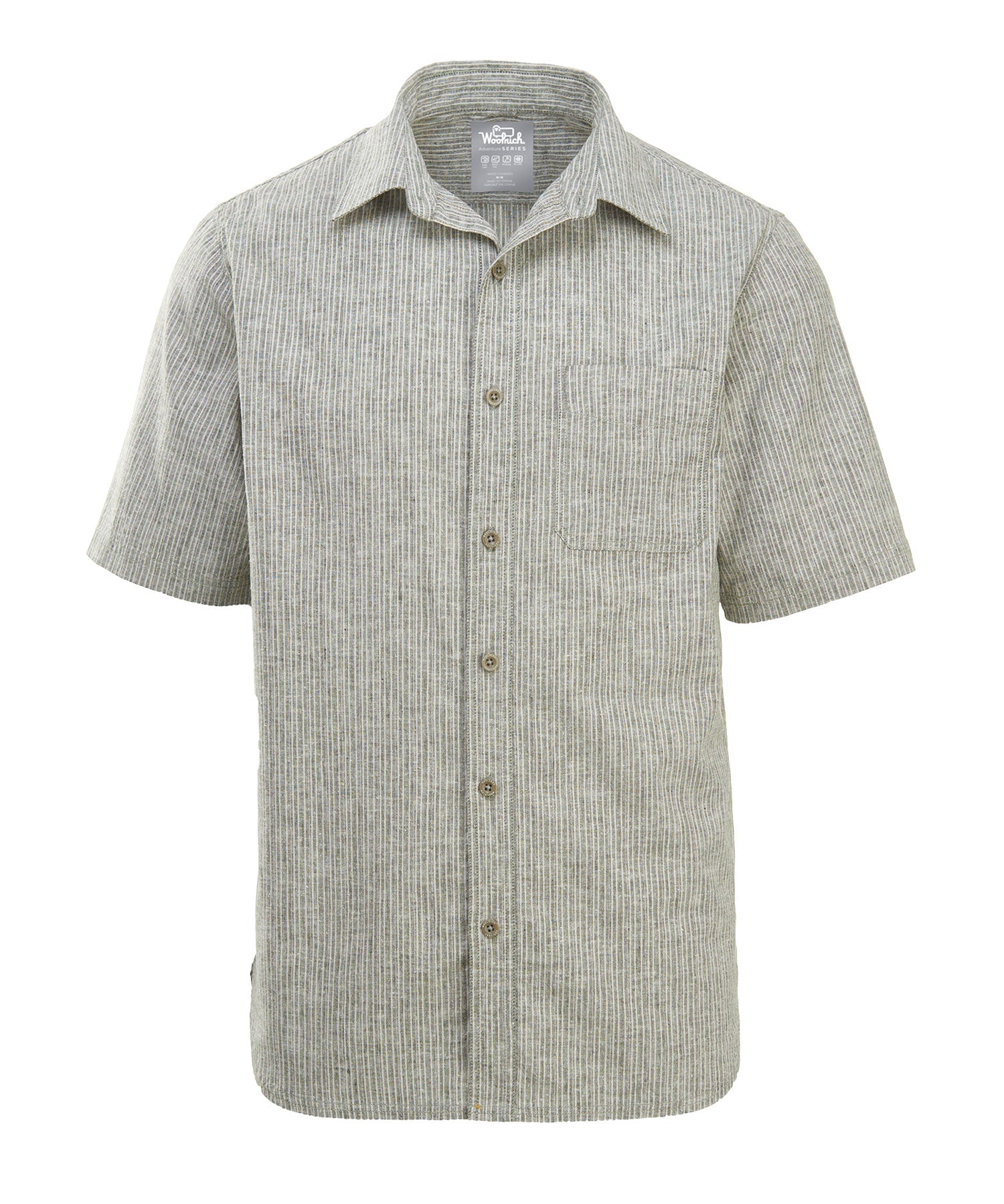 Woolrich Men's Hemp/Cotton Blend Short Sleeve Shirt