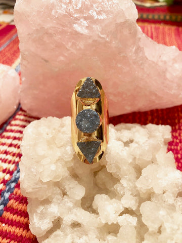 Druzy Shield Ring