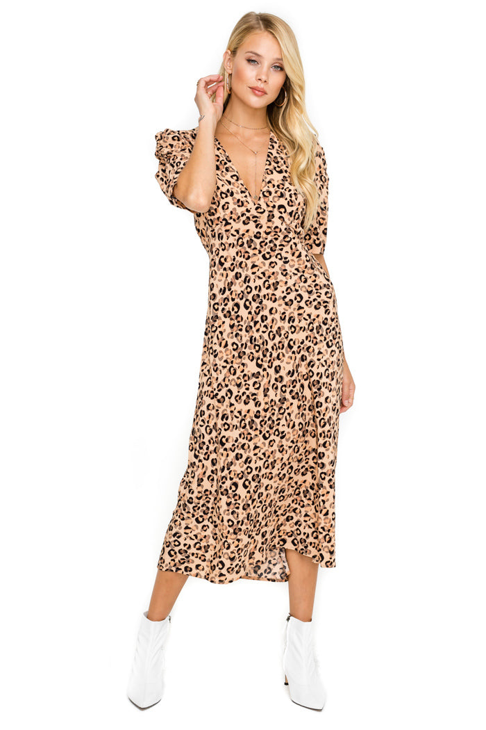 ASTR Leopard Dress